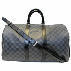 LOUIS VUITTON Keepall 45 Damier Graphite Bandoulie